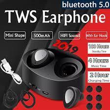 Tai Nghe Không Dây Chân Thực Bluetooth 5.0, Tai Nghe Bluetooth Có Hộp Sạc Tai  Nghe