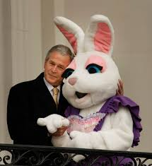 george w bush easter bunny