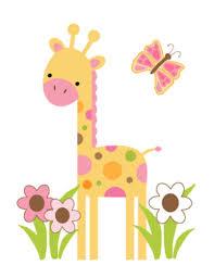 Mod Jungle Giraffe Wall Art Mural Decal Baby Girl Nursery Kids