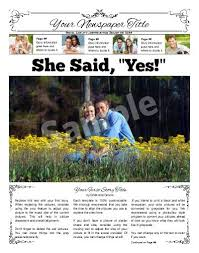 Newspaper Engagement Announcement Templates