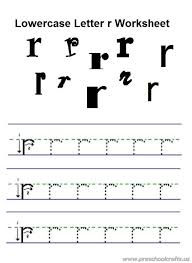 Lower Case Letter Practice Sheet Lowercase Letter R Practice Worksheet For Preschool Free Printable