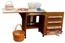 Sylvia Sewing Cabinets 98500 Sewnatra Compact Sewing Cabinet Oak Finish
