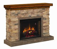 image of electric stone fireplace mantel