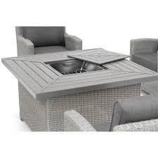 whitewash outdoor furniture. Kettler Palma Fire Pit Table Whitewash - Image 2 Outdoor Furniture