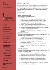 resume format for experienced accountant accountant resume sample and tips resume genius