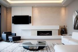 modern concrete fireplace surround modern living room