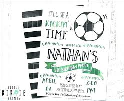 Soccer Party Invite Printable Soccer Party Invitations Awesome Soccer Birthday