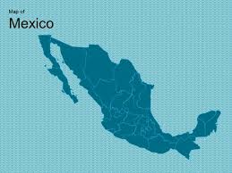 Free Interactive Maps For Powerpoint Map Of Mexico Template