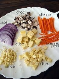A Very Useful Vegetable Cut Chart Slice Dice Julienne