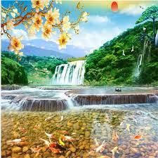 3d wallpapers Landscape waterfall ...