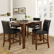 Large Rectangle Glass Dining Table With Black Dining Room Chairs