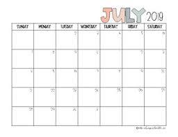 2019 2020 Blank Calendar