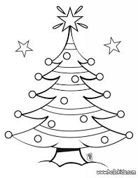 Small Picture Decorated Christmas Tree Coloring Pages Hellokids throughout