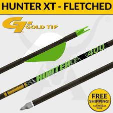 Gold Tip Hunter Xt Fletched Carbon Arrows