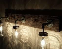 reclaimed lighting fixtures. vanity light fixture reclaimed oak barnwood by shothousestudios lighting fixtures