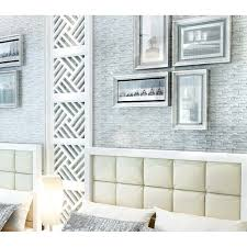 silver coated glass tile clear crystal mosaic backsplash kitchen and bathroom wall tiles