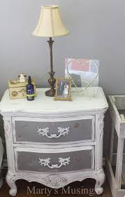 Image Silver By Using Both Chalk Paint And Behr Paint This Bedroom Furniture Went From Outdated To Shabby Martys Musings Shabby Chic Bedroom Ideas And Furniture Makeover