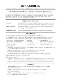 Intern Resume Sample Doc For Internship Junior Accounting Examples ...
