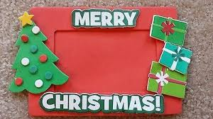 Christmas Photo Frames For Kids Foam Photo Magnet Merry Christmas Picture Frames Kids Crafts