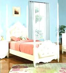 Twin Size Canopy Bed White Frame Decorating Excellent Incredible ...