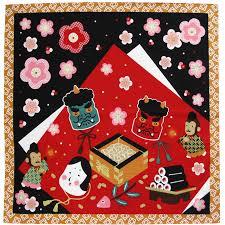 Japanese Setsubun Kimononokirakuya Japanese Pattern Shantung Chief Small Furoshiki