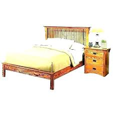 Mission Style Queen Size Bed Frame King Home Improvement Astounding ...
