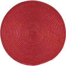 home trends shimmer round placemat red image 1 of 1