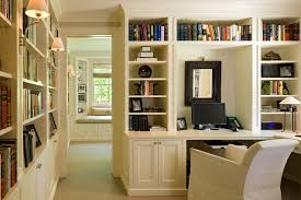 built in home office ideas home office traditional with white cabinets recessed panel doors built in home office ideas