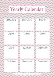 year calender 1 year calendar printable creative pink butterfly