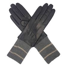 women s cashmere lined leather gloves with cuff