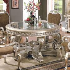 round wood dining table with leaf