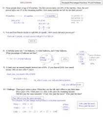 Fraction Story Problems Worksheets Math Word 3rd Grade Pdf ...