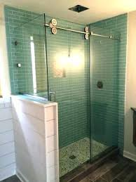 half wall shower glass half wall shower glass barn door with coloured panels panel tempered glass half wall shower glass