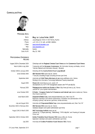 Useful Official Resume Templates With Formal Cv Format Sample Formal