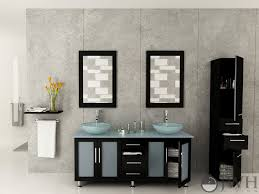 vessel sinks and vanities awesome 59 double lune green glass vanity espresso bathgems com decorating ideas