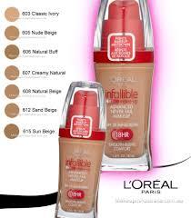 loreal infallible makeup liquid foundation 607 creamy natural