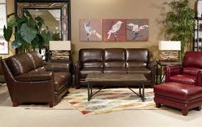 Lazy Boy Living Room Furniture La Z Boy Julius Leather Sofa With Bustle Back And Rolled Arms