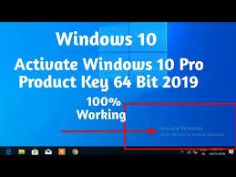 activate windows 10 pro key 64