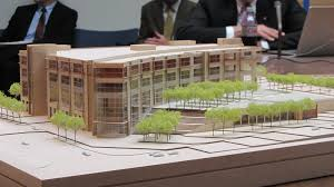 office block design. A Scale Model Of The Preliminary Design New Minnesota Senate Office Building. Tim Pugmire/MPR News Block E