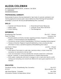 Counseling Resume Classy Wic Women Breastfeeding Peer Counselor Resume Sample Colorado