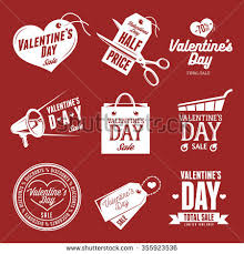 set of valentines day s labels vine vector ilration trendy design elements for diffe