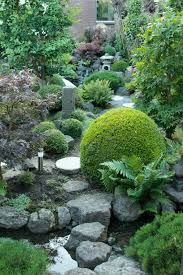 I built the whole japanese garden around the stream and tried to make it as  natural