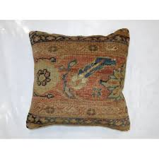 antique sultanabad rug pillow
