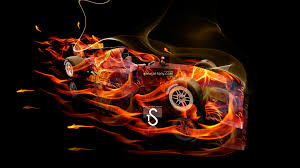f1 lotus exos fire abstract car