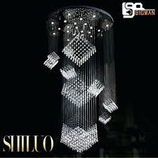 large modern chandeliers high quality crystal lamp hotel lobby chandelier stair led small mini