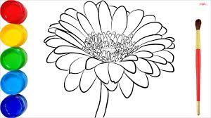 37+ Tranh tô màu hoa cúc đẹp cho bé tập tô