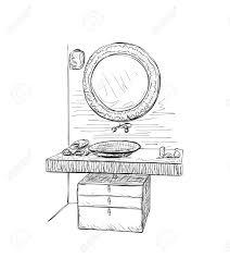 hand mirror sketch. Fine Mirror Hand Drawn Mirror Sketch Stock Vector  54562433 In Mirror Sketch S
