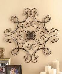 metal wall decor shop hobby: metal wall medallion scrolled iron wall decor black