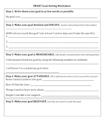 Employee Goals Template Top Goal Setting Smart Worksheet