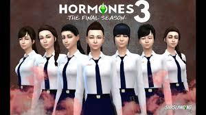 สร้างตัวละคร Hormones 3 The Final Season พร้อมชุดนักเรียนหญิง Part2 -  YouTube